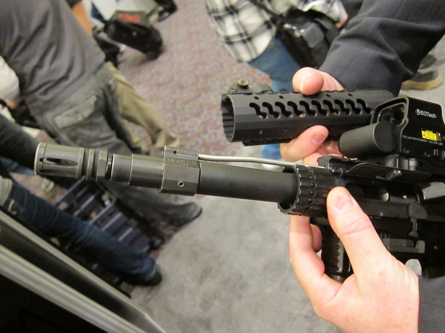 "Samson Evolution Series Rail System SHOT SHOW 2011 3 <!  :en  >Samson Evolution Series Rail System Outfitted Adams Arms 7.5"" PDW Piston AR SBR for Dynamic Close Quarters Battle (CQB) and Tactical Training: DARC Ready!<!  :  >"
