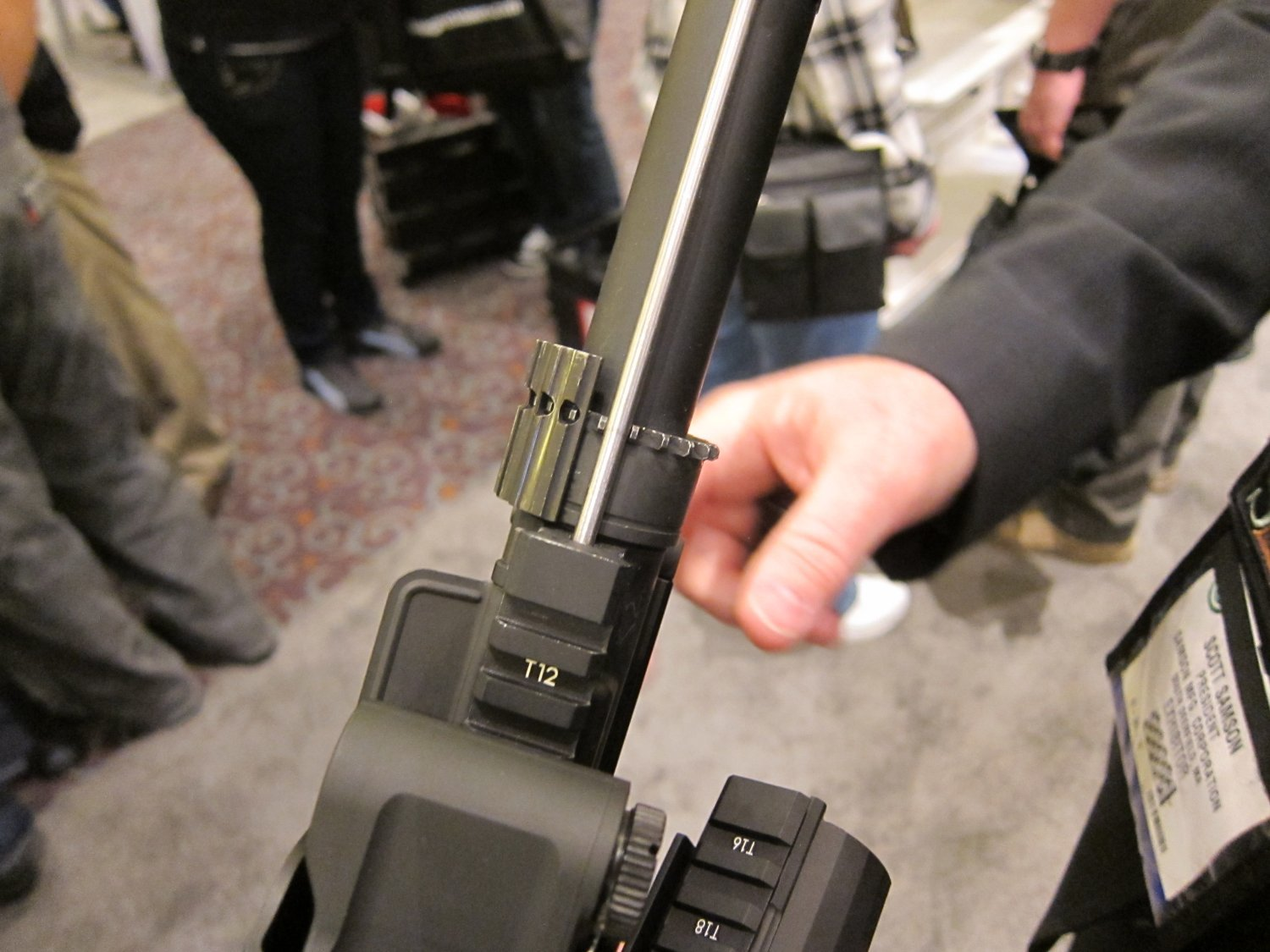 "Samson Evolution Series Rail System SHOT SHOW 2011 5 <!  :en  >Samson Evolution Series Rail System Outfitted Adams Arms 7.5"" PDW Piston AR SBR for Dynamic Close Quarters Battle (CQB) and Tactical Training: DARC Ready!<!  :  >"