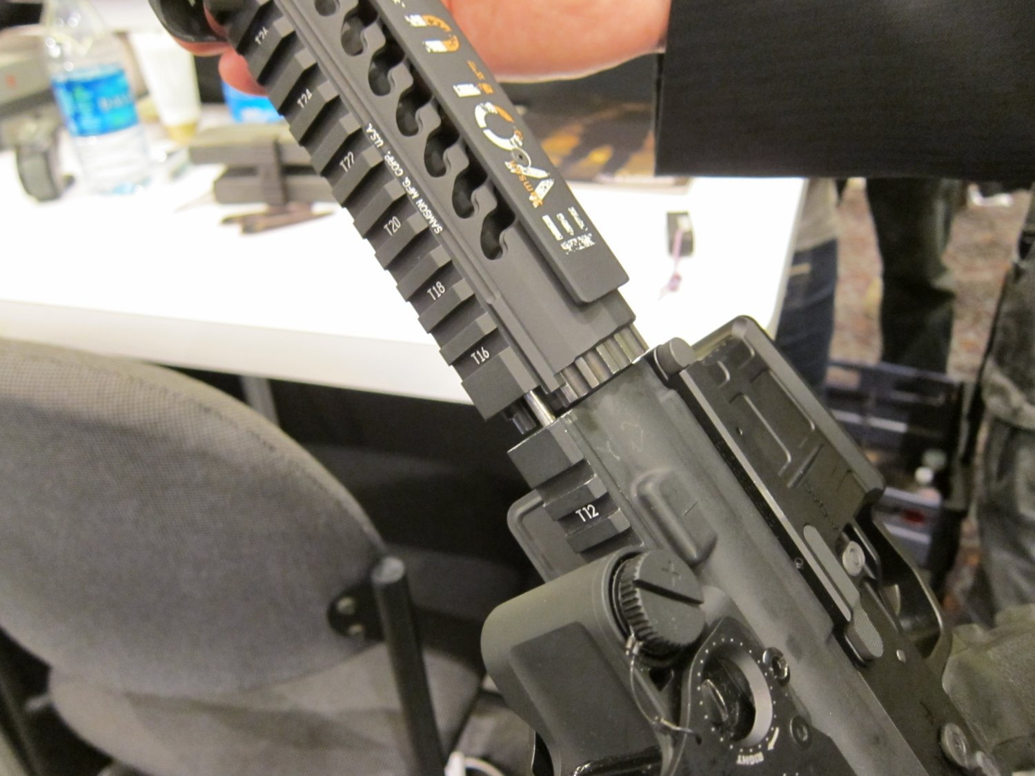 "Samson Evolution Series Rail System SHOT SHOW 2011 9 <!  :en  >Samson Evolution Series Rail System Outfitted Adams Arms 7.5"" PDW Piston AR SBR for Dynamic Close Quarters Battle (CQB) and Tactical Training: DARC Ready!<!  :  >"
