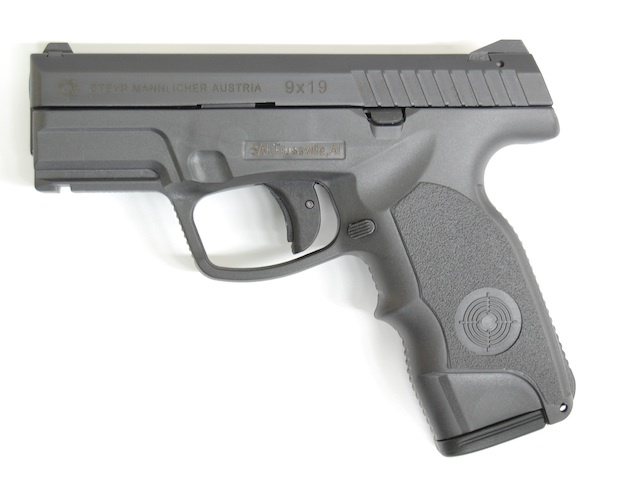 Steyr C9 A1 9mm Pistol 1 <!  :en  >Steyr C9 A1 Ultra Low Bore Axis 9mm Pistol with 17+1 Ammo Capacity for Concealed Carry (CCW) and Tactical Applications: Full Size Polymer Frame, Short Slide and 3.6 Barrel  <!  :  >