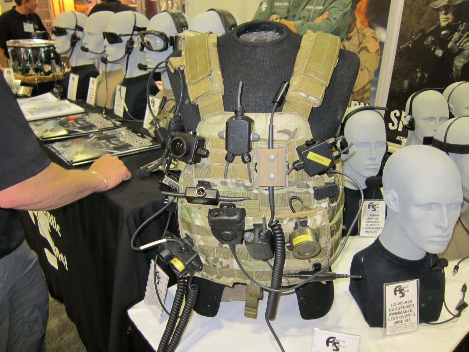 Atlantic Signal Custom Military LE Tactical Communications Headsets Tactical Comms Headsets Dominator 23 <!  :en  >DR Exclusive Interview!: Atlantic Signal (AS) Introducing The DOMINATOR Waterproof Bone Conduction/Hearing Pro Military Tactical Communications Headset System at SOFIC 2011: Ultimate Custom Built Tactical Comms Headset for U.S. Military Special Operations Forces (SOF) Assaulters/Operators (Photos!)<!  :  >