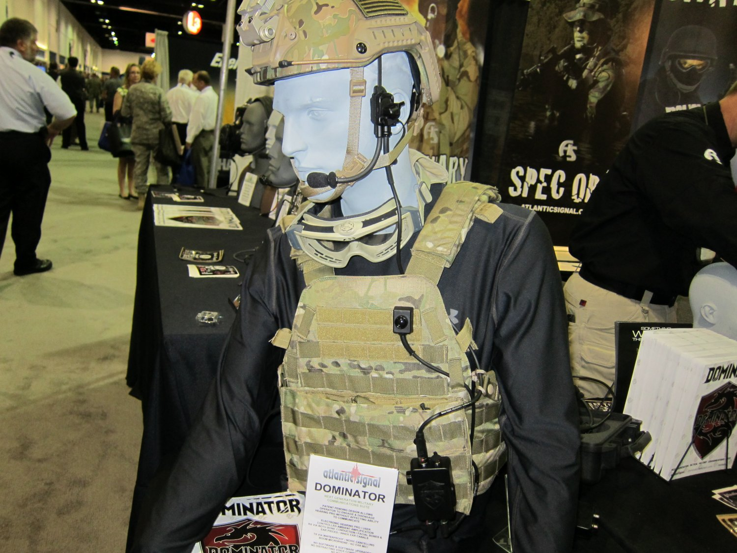 Atlantic Signal Dominator Waterproof Bone Conduction Hearing Pro Tactical Comms Headset and Ops Core SPECOPS Combat Helmet SOFIC 2011 8 <!  :en  >Atlantic Signal Dominator Waterproof Bone Conduction/Hearing Pro Tactical Headset Good to Go! U.S. Military Special Operations Tactical Comms Headset Goes Prime Time at SOFIC 2011 (Photos and Video!) <!  :  >