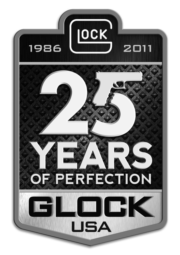 GLOCK 25th Anniversary Logo small <!  :en  >Glock, Inc. to Donate $100,000 to the Special Operations Warrior Foundation (SOWF) at Special Operations Forces Industry Conference 2011 (SOFIC 2011)<!  :  >