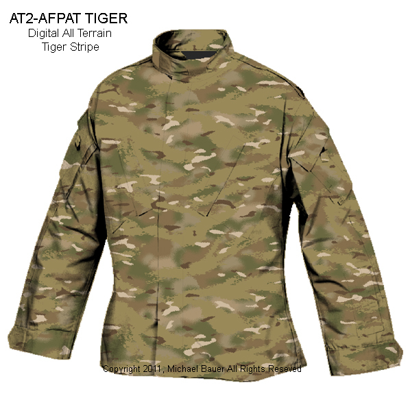 Tiger Stripe Products TSP AT2 AFPAT Tiger Digital Tiger Pattern All Terrain Multi Environment Multi Terrain Pattern MTP Camo Combat Camouflage Pattern 1 <!  :en  >Tiger Stripe Products (TSP) Develops and Introduces All Terrain Tiger (ATT) Multi Environment/Multi Terrain Combat Camouflage (Camo) Pattern for Tactical Operations<!  :  >