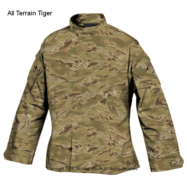 Tiger Stripe Products TSP All Terrain Tiger ATT Multi Environment Multi Terrain Pattern MTP Camo Combat Camouflage Pattern 1 <!  :en  >Tiger Stripe Products (TSP) Develops and Introduces All Terrain Tiger (ATT) Multi Environment/Multi Terrain Combat Camouflage (Camo) Pattern for Tactical Operations<!  :  >