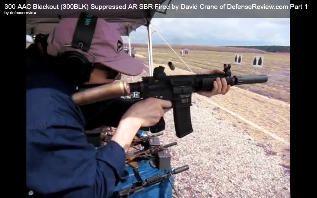 David_Crane_Running_300_AAC_Blackout_(300BLK)-Suppressed_Remington_Military_Gas_Piston_Carbine_(GPC)_Tactical_AR_SBR_at_NDIA_Infantry_Small_Arms_Systems_Symposium_2011_Range_Day_Shoot_1