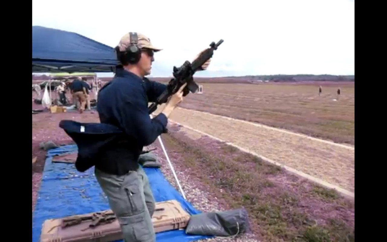 David Crane Running Colt SCW Sub Compact Weapon AR SBR at NDIA Infantry Small Arms Systems Symposium 2011 Range Day Shoot 23 <!  :en  >DR Action Video! Colt SCW (Sub Compact Weapon) Personal Defense Weapon (PDW) Type 5.56mm NATO AR SBR/Sub Carbine Fired on Full Auto at NDIA Range Day<!  :  >
