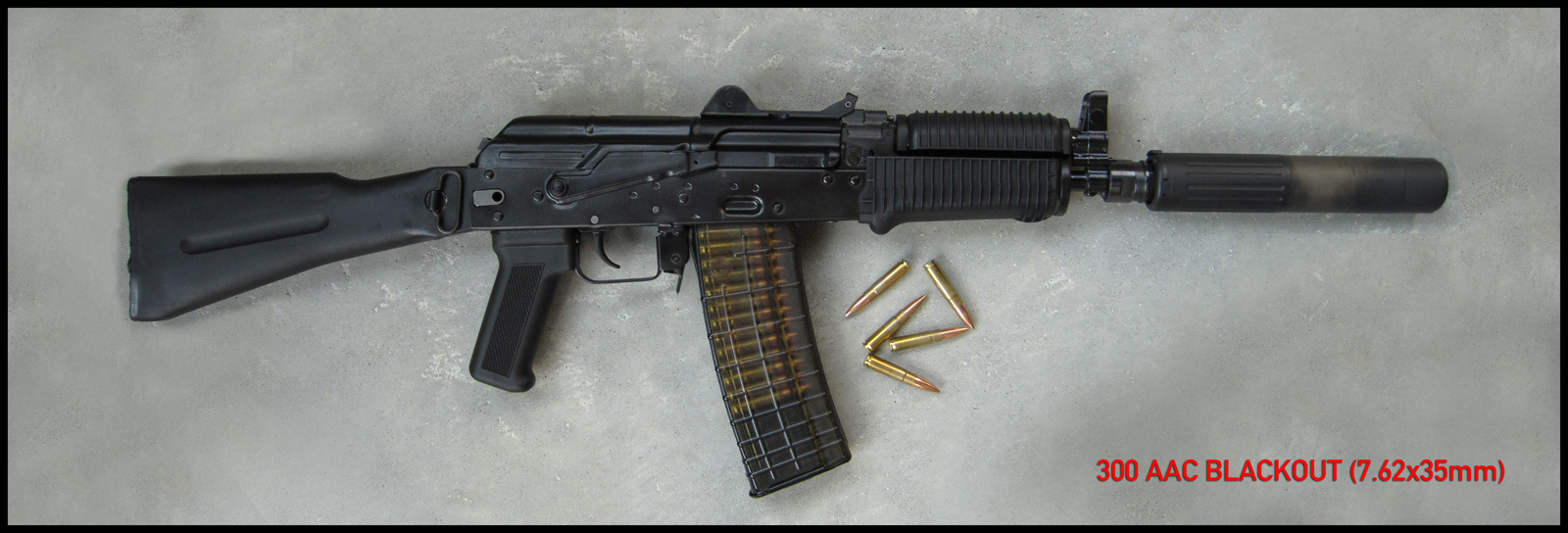 Kalashnikov AKSU AK SBR 300 AAC Blackout Rob Silvers 2 <!  :en  >Kalashnikov AKSU AKM SBR/Sub Carbine Chambered in 300 AAC Blackout Test Fired at the Range (Video!) <!  :  >