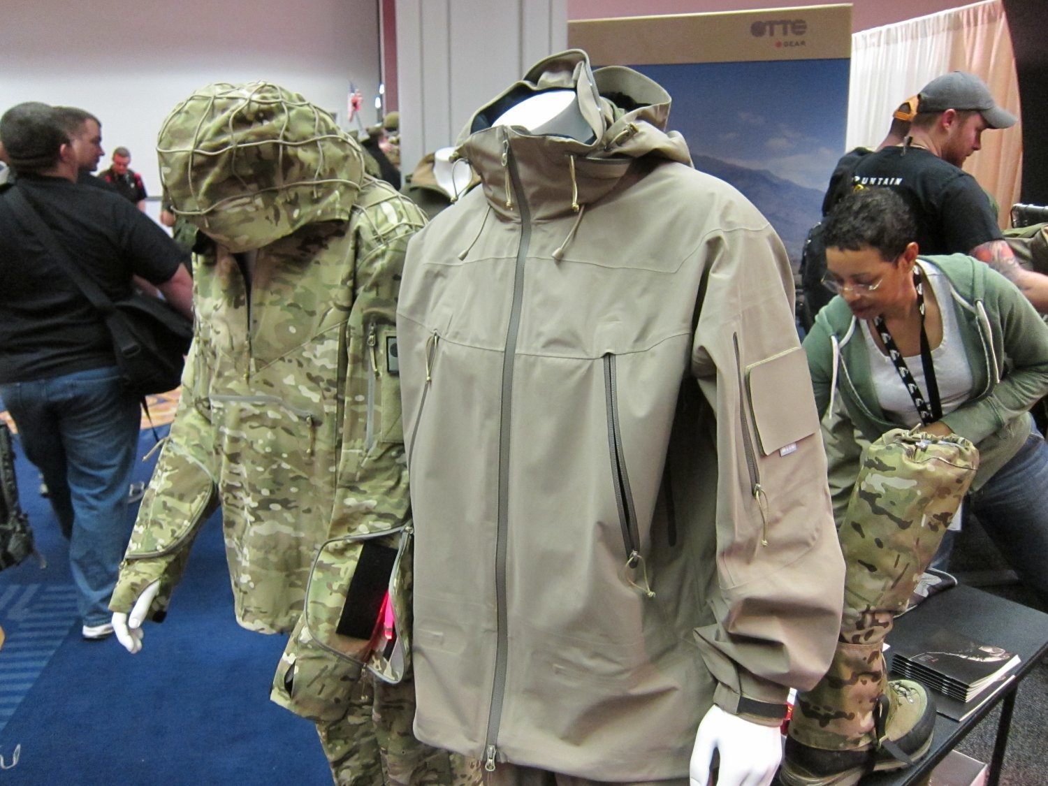 OTTE Gear Combat Anorak Hooded Pullover Tactical Softshell Jacket SHOT Show 2011 DefenseReview.com DR 2 <!  :en  >OTTE Gear Recce/Overwatch Anorak: High End, High Tech Tactical/Combat Soft Shell Hoodie Sniper Jacket (Pullover Type) with Crye MultiCam Camouflage Pattern and Ghillie Platform for Snipers, Recce Operators/Assaulters and Civilian Tactical Shooters<!  :  >