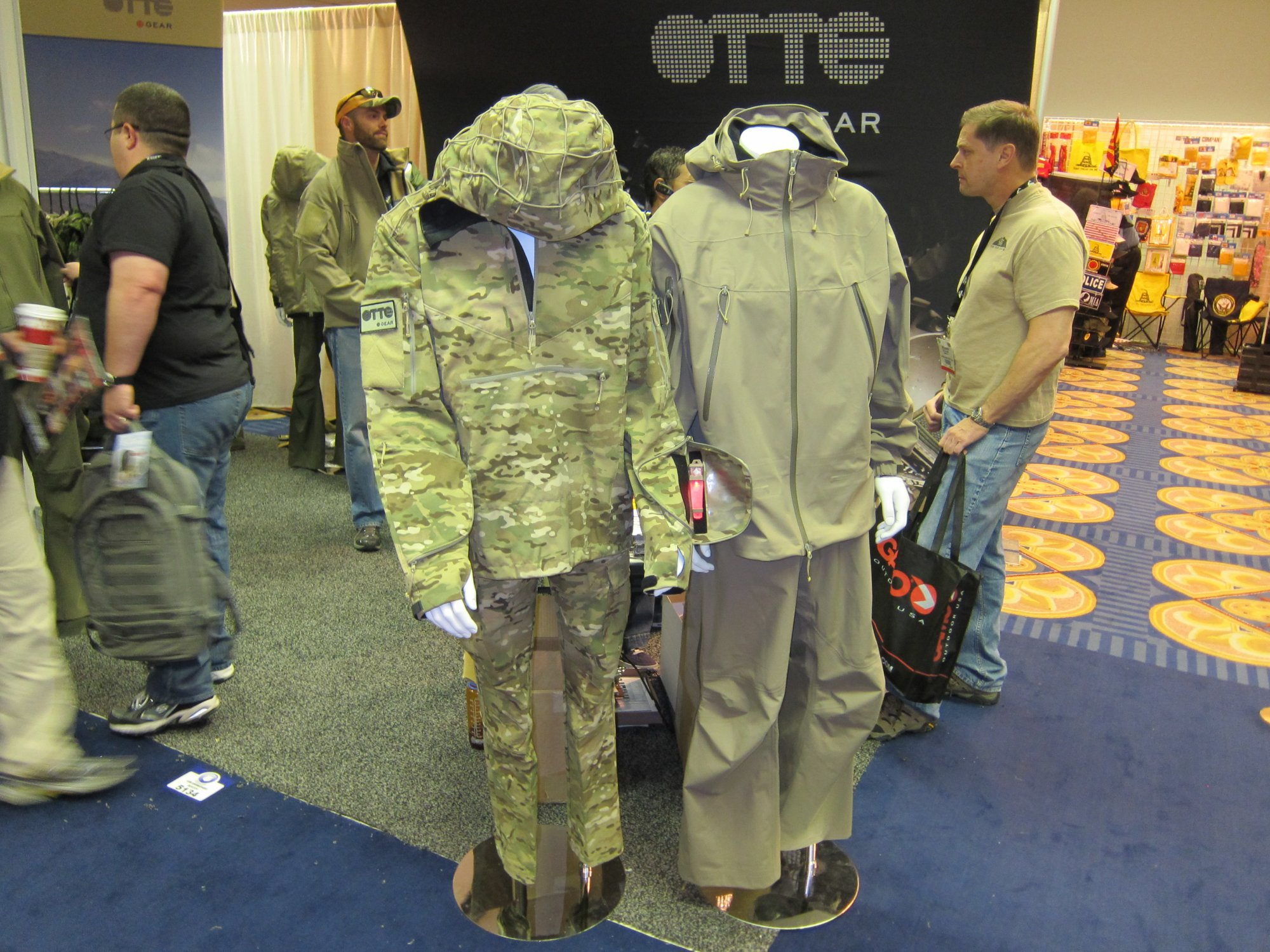 OTTE Gear Combat Anorak Hooded Pullover Tactical Softshell Jacket SHOT Show 2011 DefenseReview.com DR 4 <!  :en  >OTTE Gear Recce/Overwatch Anorak: High End, High Tech Tactical/Combat Soft Shell Hoodie Sniper Jacket (Pullover Type) with Crye MultiCam Camouflage Pattern and Ghillie Platform for Snipers, Recce Operators/Assaulters and Civilian Tactical Shooters<!  :  >