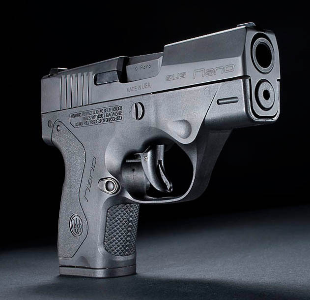 Beretta Nano Sub-Compact Pistol: 9mm Parabellum (9x19mm NATO)/.40 S&W Polymer-Framed Sub-Compact Pistol Goes Up Against the Big Boys in the Concealed Carry (CCW) Arena