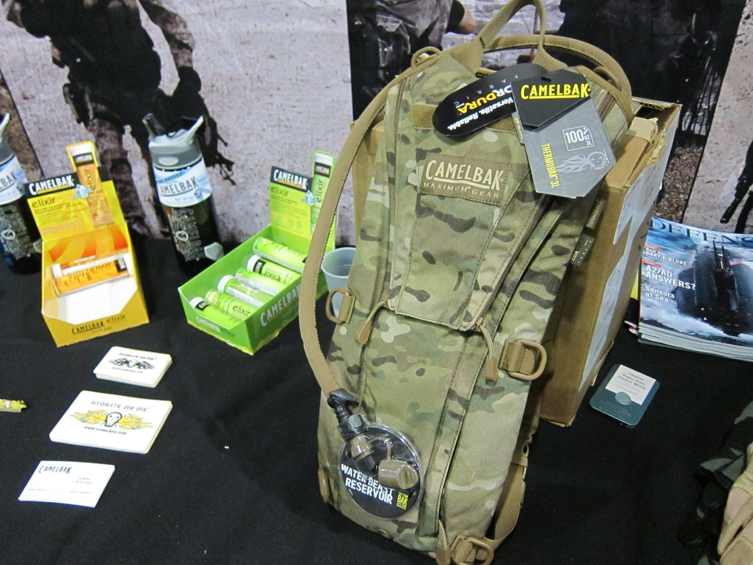Camelbak Thermobak AB Tactical Hydration Pack Crye MultiCam SOFIC 2011 3 <!  :en  >Camelbak Ambush AB 500, Thermobak AB, and Linchpin Tactical Hydration Packs/Reservoirs with Direct Armor Attachment System (D.A.A.S.): Strap your tactical hydration directly to your tactical armor plate carrier/tactical vest system! <!  :  >