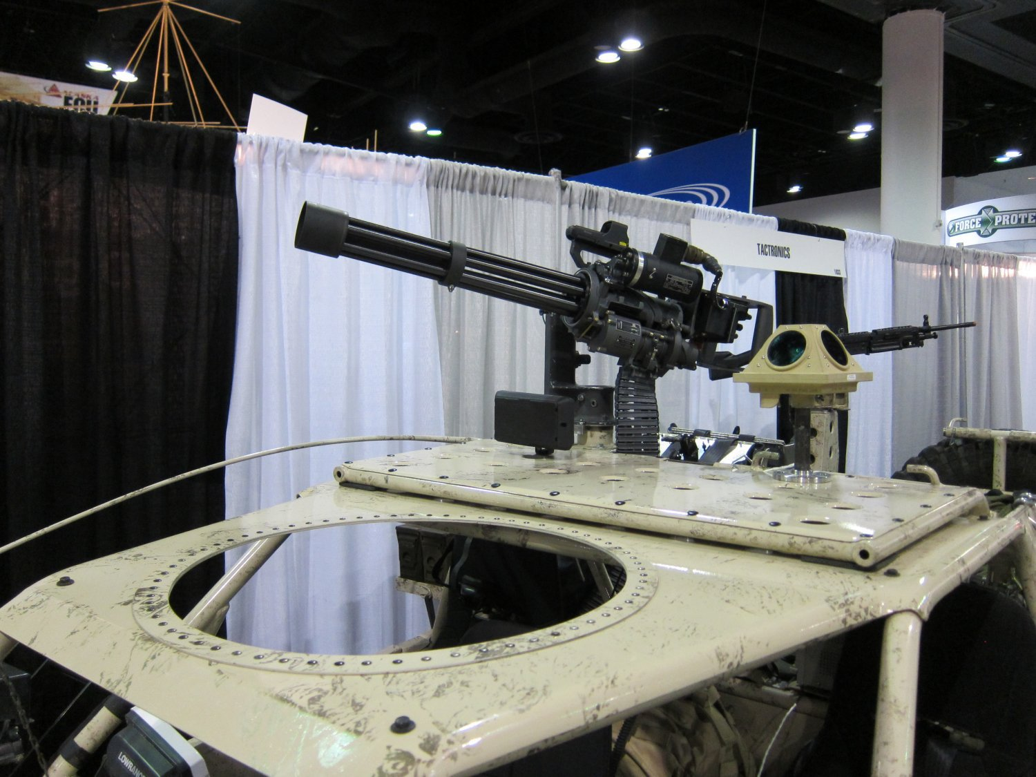 Garwood Industries M 134G Gatling Gun Minigun System SOFIC 2011 DefenseReview DR 7 BC Customs (BCC) Search and Rescue Tactical Vehicle 5 (SRTV 5) Baja Racing Type All Terrain Combat Vehicle Armed/Weaponized with 7.62mm NATO Garwood Industries (GI) M134G Minigun/Gatling Gun: SXOR Mobility Vehicles Go Tactical for Military Special Operations Forces (SOF) Missions