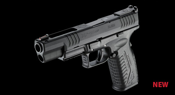 Springfield Armory XDm 45ACP 9mm 5.25 Competition Pistol 1 <!  :en  >Springfield Armory XDm 45ACP and XD(M) 9mm 5.25 Barreled Competition Series Long Slide Tactical Pistols: Developed by Rob Leatham for Rob Leatham  <!  :  >