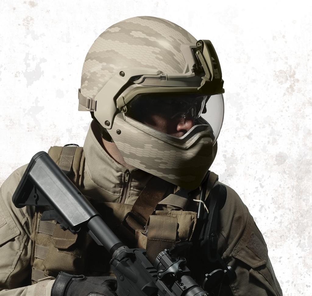"Revision BATLSKIN Modular Head Protection System (MHPS) Demo Video Released from AUSA 2011: Revision Military Batlskin (""Battle Skin"") Modular Ballistic Combat Helmet/Visor/Facial Armor System (Maxillofacial/Mandibular Armor) Update"