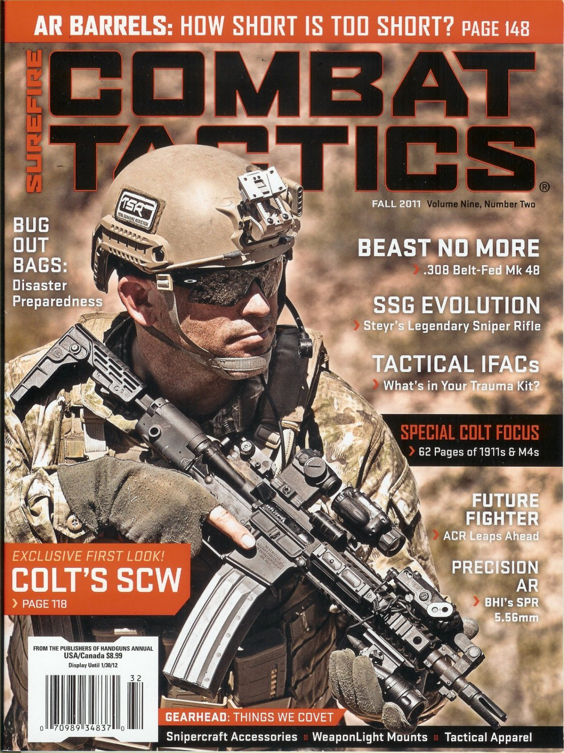 "Orion Design Group (ODG) ODTDM-2 Arid-Environment/Multi-Environment/Multi-Terrain/Multispectral Military Combat Camo (Camouflage) Pattern/""Individual Signature Management"" Technology Makes Cover of SureFire ""Combat Tactics"" Magazine Fall 2011 Issue (Photo!)"