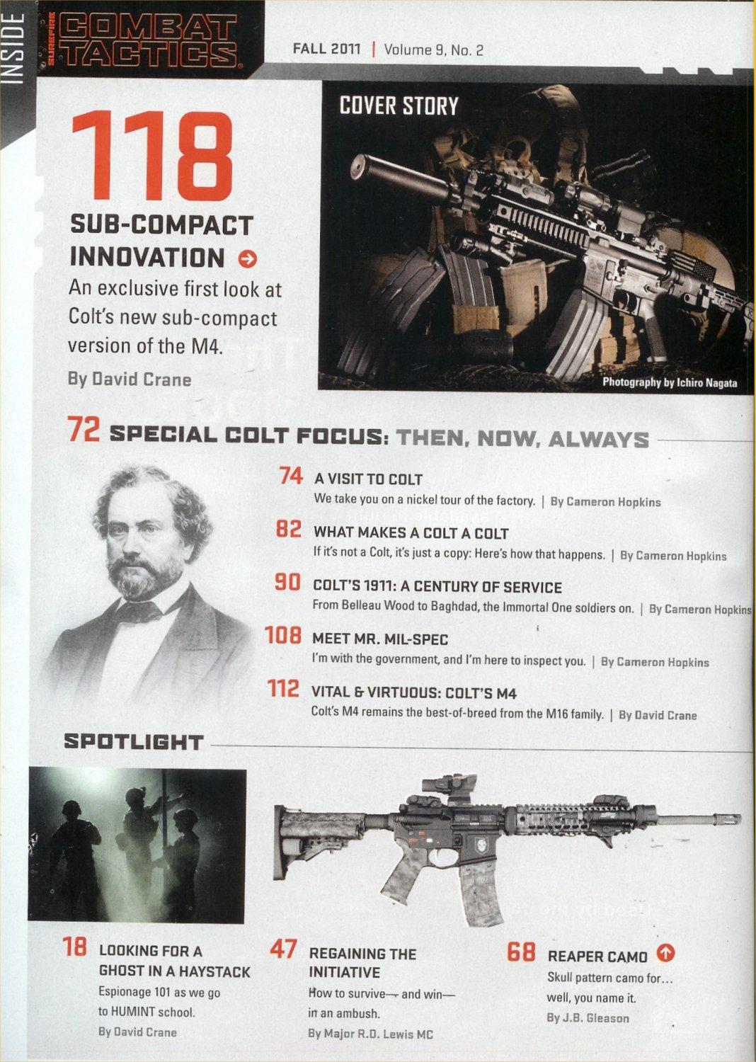 SureFire Combat Tactics Magazine Fall 2011 Issue Inside Page David Crane Articles Listing small DR Heads Up: Latest issue of SureFire Combat Tactics Magazine (Fall 2011 Issue) coming out, so go pick it up!