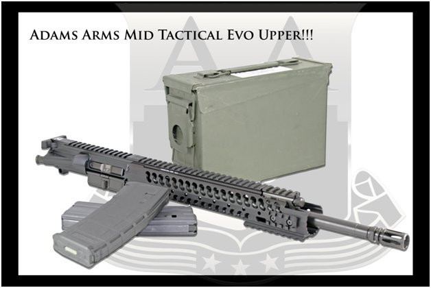 Adams Arms AA Mid Length Tactical Evo Piston AR Upper Receiver Exported Adams Arms (AA) Tactical Evo Piston AR (AR 15/M16 Rifle / M4/M4A1 Carbine) Uppers (Upper Receivers) with Samson Evolution Rail System/Tactical Handguards for Martial Combat and Tactical Training (Videos!)