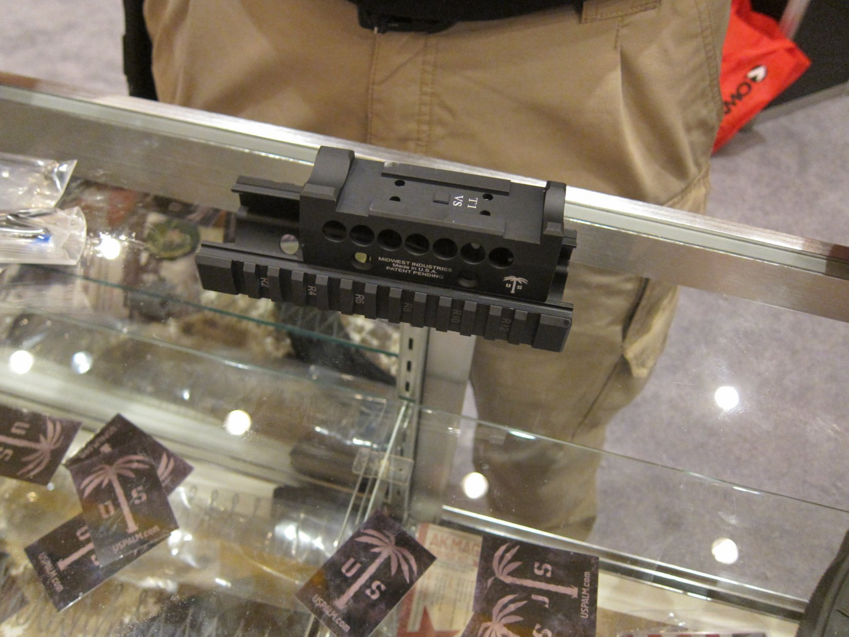 US PALM  Midwest Industries MI Rail Kit for AK Rifle AK 47 AKM Rifle Carbine TangoDown SHOT Show 2012 DefenseReview.com DR 1 US PALM Takedown/Breakdown AK (Kalashnikov AK 47/AKM Rifle/Carbine) with US PALM/Midwest Industries MI Rail Kit at SHOT Show 2012: Tactical, Practical and Backpackable AK for Military Special Operations and Civilian Tactical Shooters! (Video!)