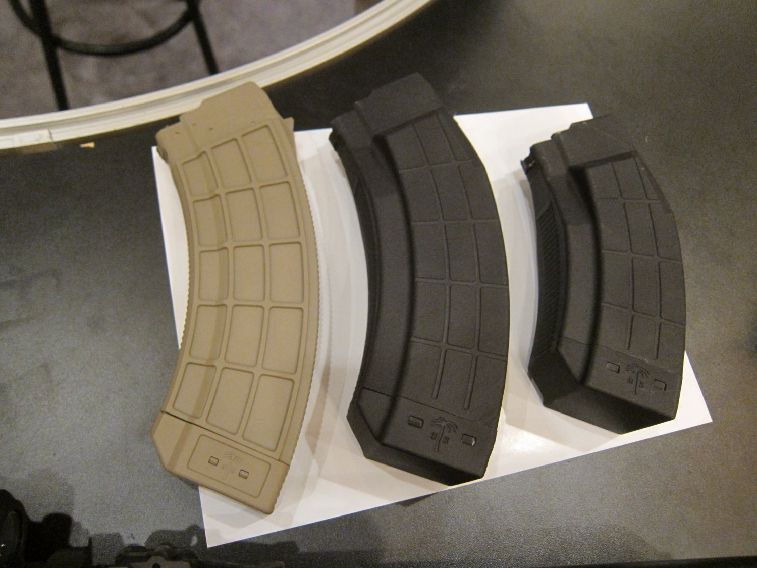 US PALM  Qaud Stack 4x2 45 Round and 30 Round AK Mags AK 47 AKM Rifle Magazines TangoDown SHOT Show 2012 DefenseReview.com DR 3 US PALM 45 Round and 30 Round Quad Stack (4x2 config) 7.62x39mm Russian Caliber Polymer AK Mags (Rifle Magazines) at SHOT Show 2012: The Kalashnikov AK 47/AKM Rifle Gets a Big Boost in Immediate Ammo Capacity/Tactical Firepower! (Video!)