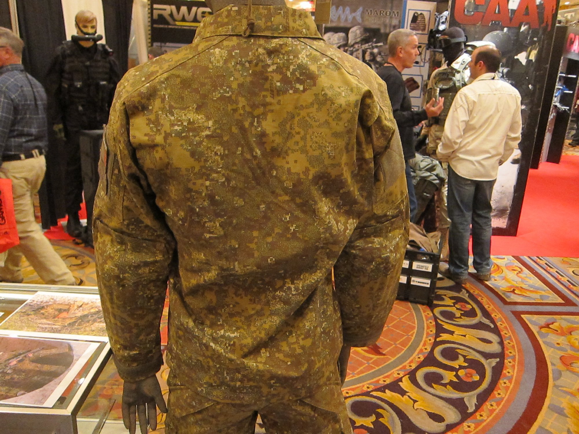 Hyde Definition PenCott Badlands SOD Gear Tactical Combat Camouflage Clothing BDU TangoDown SHOT Show 2012 1 17 2012 DefenseReview.com DR 5 SOD Gear Spectre Shirt/Battle Jacket and Para One Pants in Hyde Definition PenCott Multi Environment Digital Combat Camo (Camouflage) Patterns at SHOT Show 2012: High Tech Combat Clothing (BDU Type) for Military Special Operations Forces (SOF) and Civilian Tactical Shooting