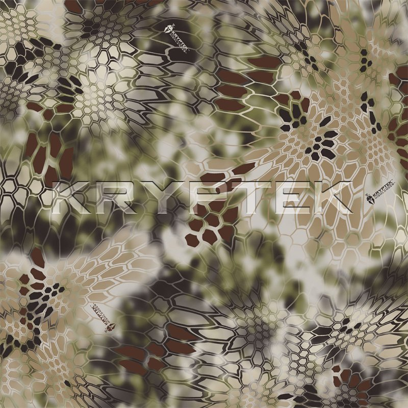 Kryptek LEAF Combat Camo Camouflage Highlander Swatch Kryptek LEAF/Camo Technologies 3 Dimensional (3 D)/Multi Directional Biomimetic Military Combat Camouflage (Camo) Patterns at SHOT Show 2012: Is the Armys Future Soldier Going Reptilian? (Video!)