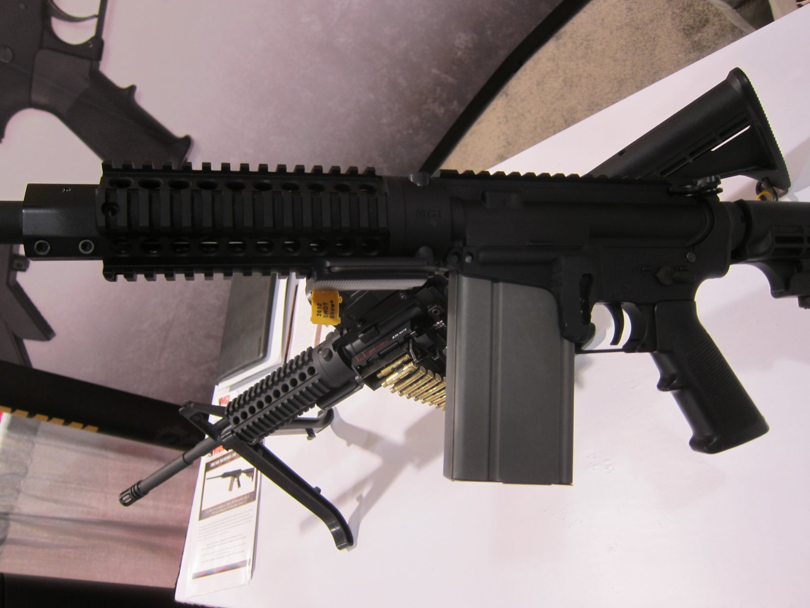MGI Hydra AR 7.62mm Magazine SHOT Show 2012 DefenseReview.com DR 2 MGI Hydra Modular 7.62mm NATO/.308 Win. Tactical AR (AR 15) Rifle/Carbine/SBR (Short Barreled Rifle) Conversion Kit Prototype with Modular Lower Receiver, 7.62mm Magwell and Modified M14 Mag (Photos and Video!)