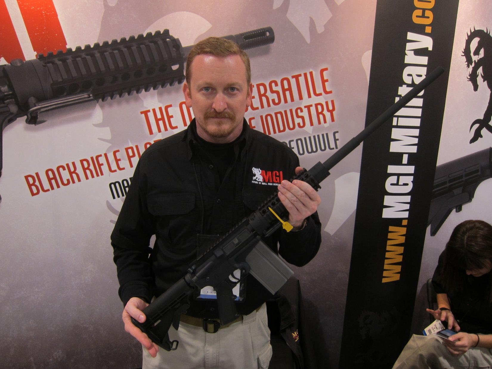 MGI Hydra AR 7.62mm Magazine SHOT Show 2012 DefenseReview.com DR 4 MGI Hydra Modular 7.62mm NATO/.308 Win. Tactical AR (AR 15) Rifle/Carbine/SBR (Short Barreled Rifle) Conversion Kit Prototype with Modular Lower Receiver, 7.62mm Magwell and Modified M14 Mag (Photos and Video!)