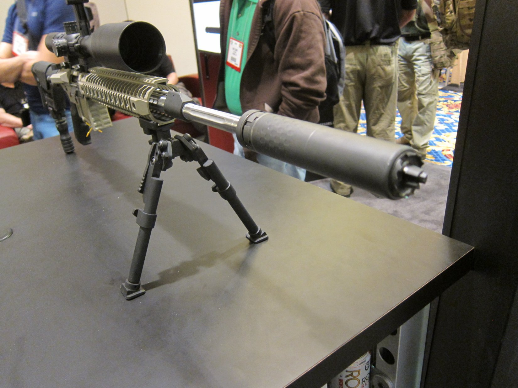Silencerco Saker 5.56 Modular/Universal 5.56mm Rifle Silencer/Sound Suppressor with Trifecta Fast-Attach Mount and Trifecta RS Flash Hider/Suppressor at SHOT Show 2012: Most Innovative and Modular 5.56mm Muzzle Can Ever? (Video!)
