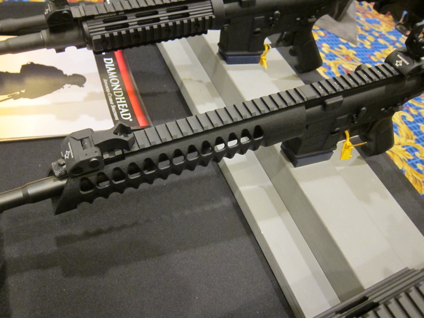 Diamondhead USA V RS T TD Versa Rail System Lightweight Free Float Triangular Modular Rail Tactical Handguard SHOT Show 2012 DefenseReview.com DR 2 Diamondhead USA V RS T/TD Versa Rail System Lightweight Free Float Triangular Tactical Handguard/Modular Rail System for Tactical AR 15 Carbine/SBRs at SHOT Show 2012 (Video!)