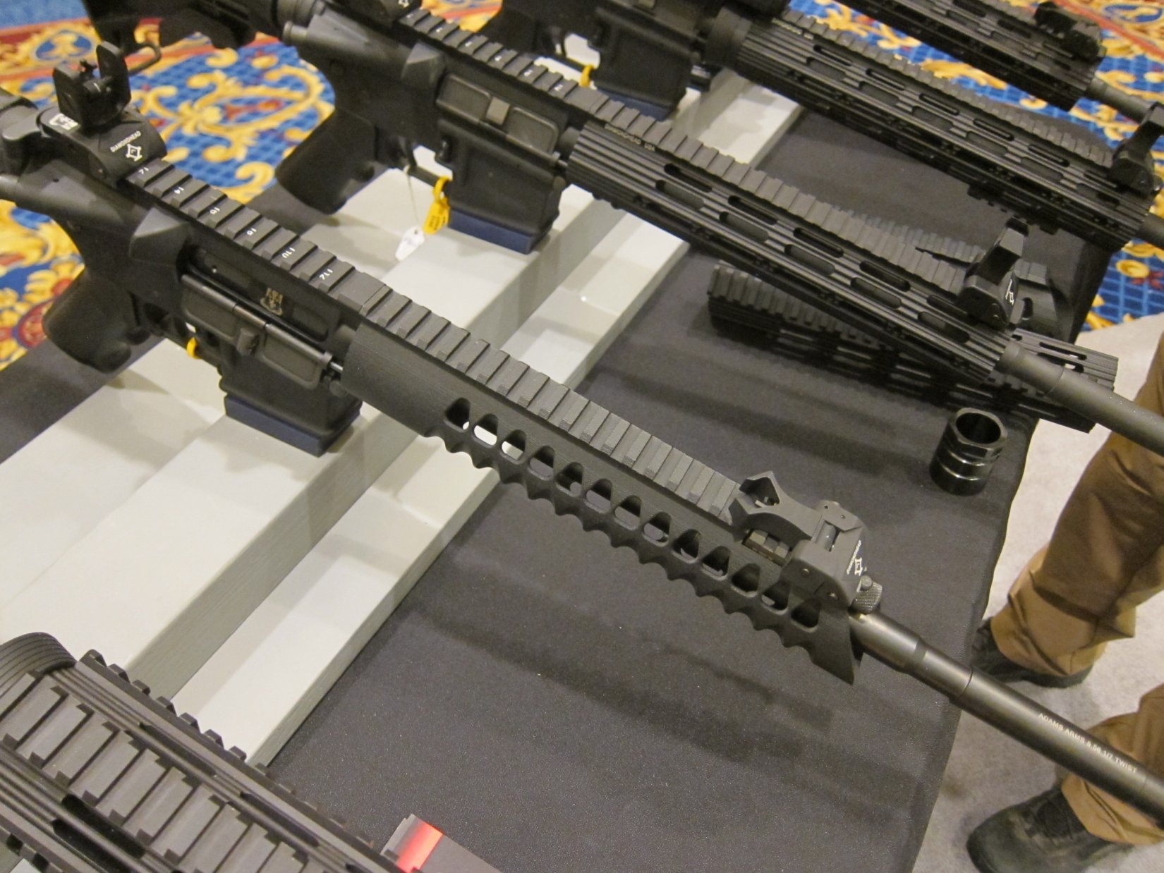 Diamondhead USA V RS T TD Versa Rail System Lightweight Free Float Triangular Modular Rail Tactical Handguard SHOT Show 2012 DefenseReview.com DR 3 Diamondhead USA V RS T/TD Versa Rail System Lightweight Free Float Triangular Tactical Handguard/Modular Rail System for Tactical AR 15 Carbine/SBRs at SHOT Show 2012 (Video!)