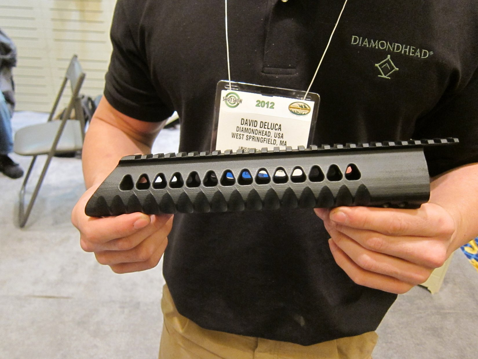 Diamondhead USA V RS T TD Versa Rail System Lightweight Free Float Triangular Modular Rail Tactical Handguard SHOT Show 2012 DefenseReview.com DR 5 Diamondhead USA V RS T/TD Versa Rail System Lightweight Free Float Triangular Tactical Handguard/Modular Rail System for Tactical AR 15 Carbine/SBRs at SHOT Show 2012 (Video!)