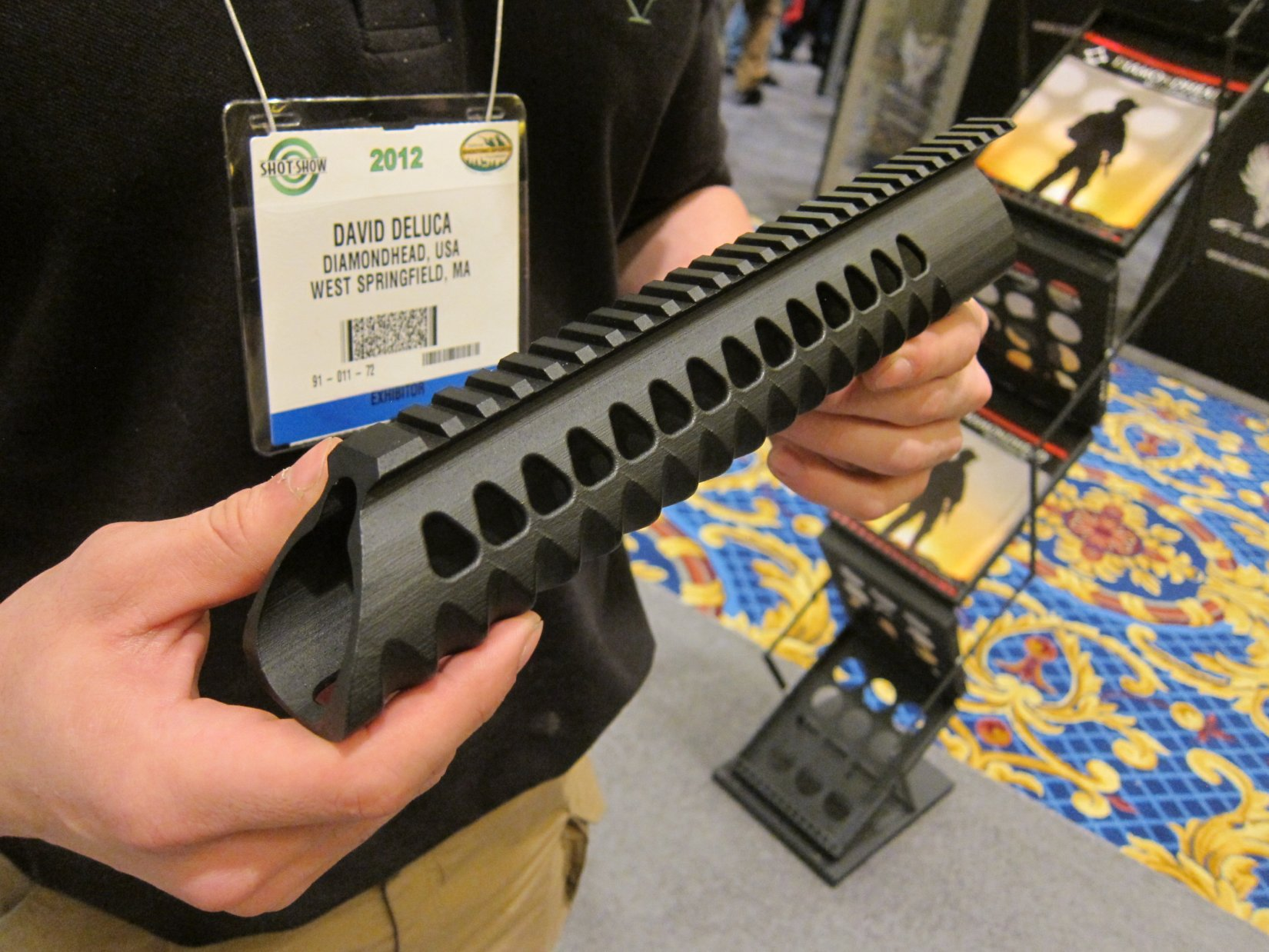 Diamondhead USA V RS T TD Versa Rail System Lightweight Free Float Triangular Modular Rail Tactical Handguard SHOT Show 2012 DefenseReview.com DR 6 Diamondhead USA V RS T/TD Versa Rail System Lightweight Free Float Triangular Tactical Handguard/Modular Rail System for Tactical AR 15 Carbine/SBRs at SHOT Show 2012 (Video!)