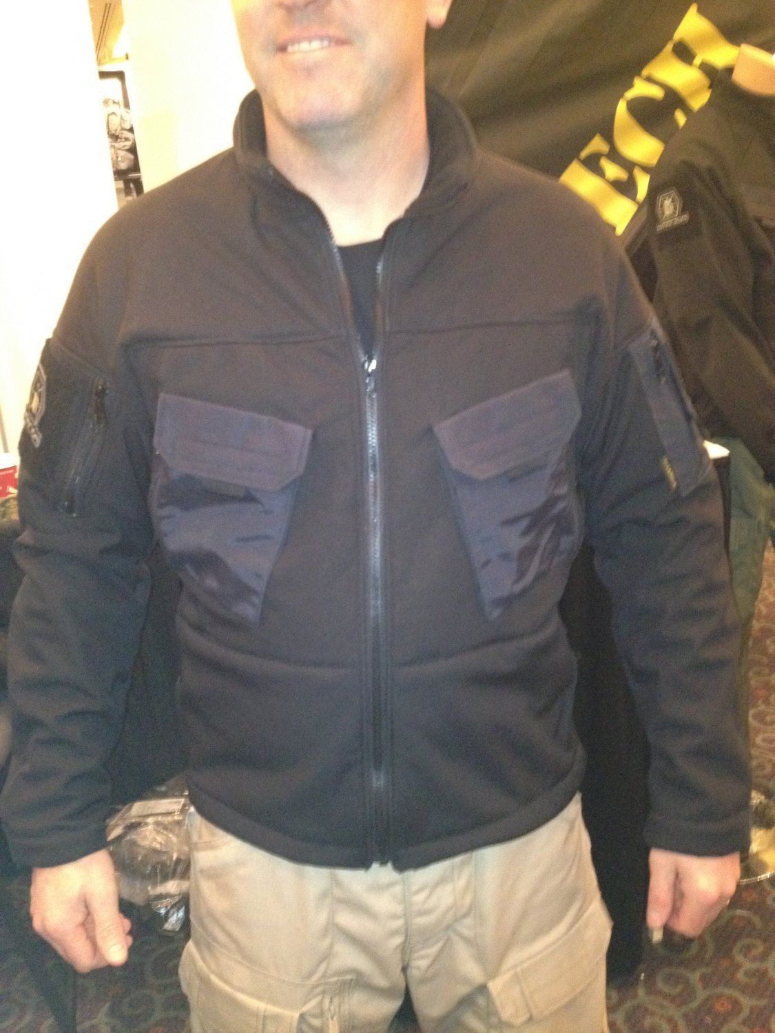 Kitanica Mark I MK1 Tactical Fleece Liner SHOT Show 2012 DefenseReview.com DR 1 Kitanica Mark V (MK5) Tactical Jacket with Textured Poron XRD Padding System for Civilian Tactical Shooters: The Latest Kitanica Advanced Tactical Apparel/Clothing Product (Video!)