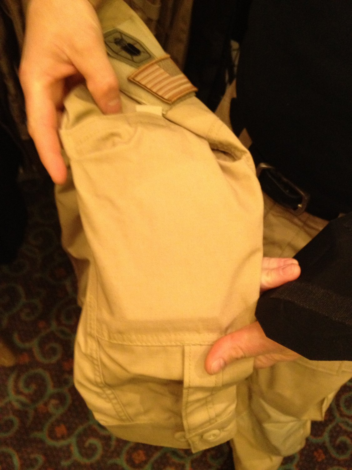 Kitanica Tactical Shirt Pocket for Poron XRD Smart Foam Padding System SHOT Show 2012 DefenseReview.com DR 1 Kitanica Mark V (MK5) Tactical Jacket with Textured Poron XRD Padding System for Civilian Tactical Shooters: The Latest Kitanica Advanced Tactical Apparel/Clothing Product (Video!)