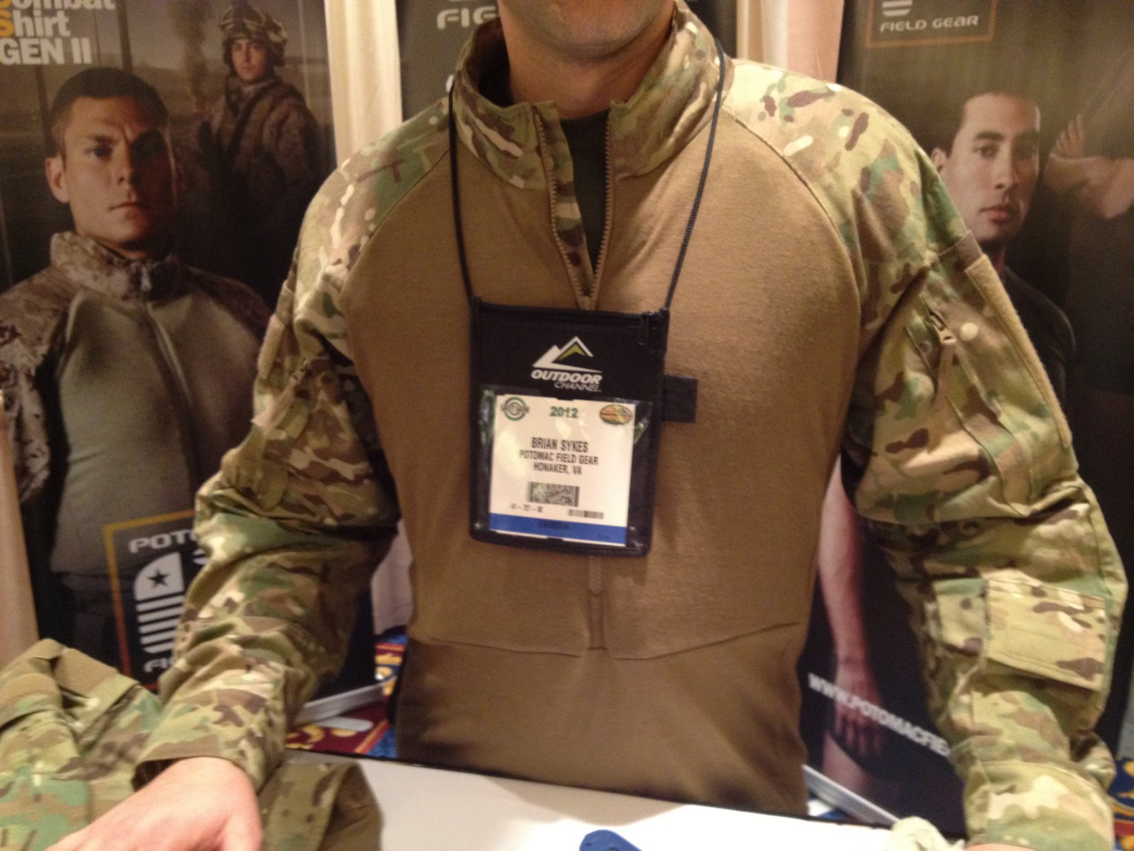 Potomac Field Gear PFG Advanced Combat Shirt Gen II FR Battle Shirt SHOT Show 2012 DefenseReview.com DR 6 Potomac Field Gear (PFG) Advanced Combat Shirt (ADCS) Gen. II (MultiCam Camouflage): Flame Retardant/Fire Resistant (FR), Moisture Wicking Battle Shirt/BDU with Passive Cooling Protective Padding and X Static Silver Fiber Laced Advanced Protective Fabric (APF) at SHOT Show 2012 (Video!)