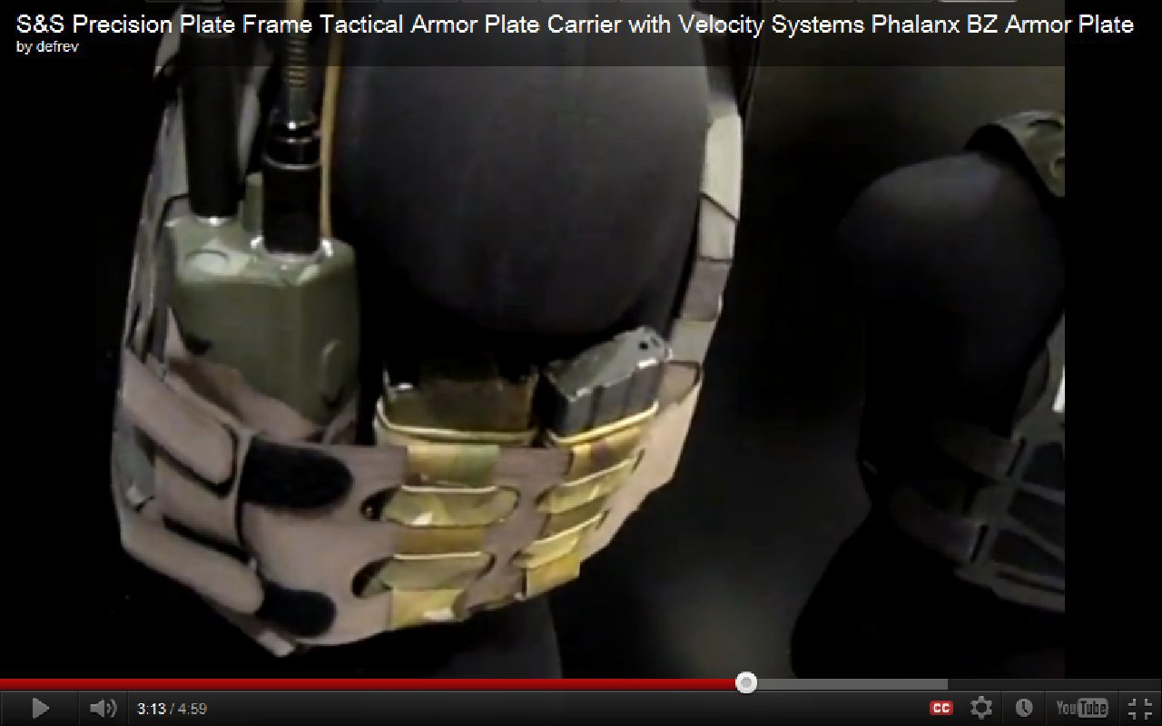 SS Precision Maritime Plate Frame Tactical Armor Plate Carrier Body Armor with Velocity Systems API BZ Ballistic Rifle Plate Armor Plate Video Screen Capture SHOT Show 2012 DefenseReview S&S Precision Plate Frame Tactical Armor Plate Carrier (Tactical and Maritime Models) with RF Welding and Velocity Systems Phalanx VS PBZ 7.62x39mm API (BZ) Hard Armor Plate at SHOT Show 2012: Low Profile/Minimalist Military Body Armor Goes Even More Lo Pro (Video!)