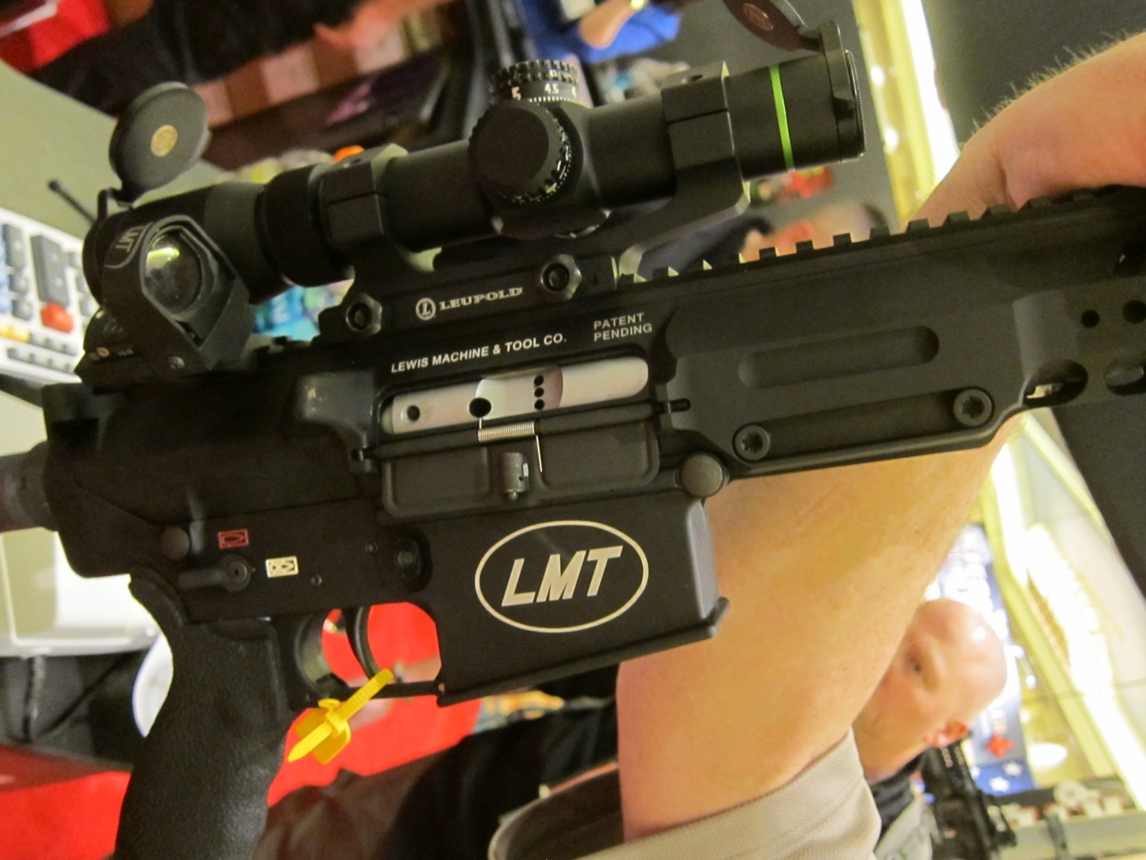 Lewis Machine  Tool LMT LM8MWS Tactical AR 10 7.62x51mm NATO .308 Win. Upper Receiver SHOT Show 2012 DefenseReview.com DR 7 Lewis Machine & Tool LMT LM8MWS (also written LM8 MWS) 16 Slick Receiver Monolithic Rail Platform 7.62mm NATO/.308 Win. Tactical AR 10/SR 25 Type Battle Rifle/Carbine Upper Receiver(s) with Lightweight Modular Rail System
