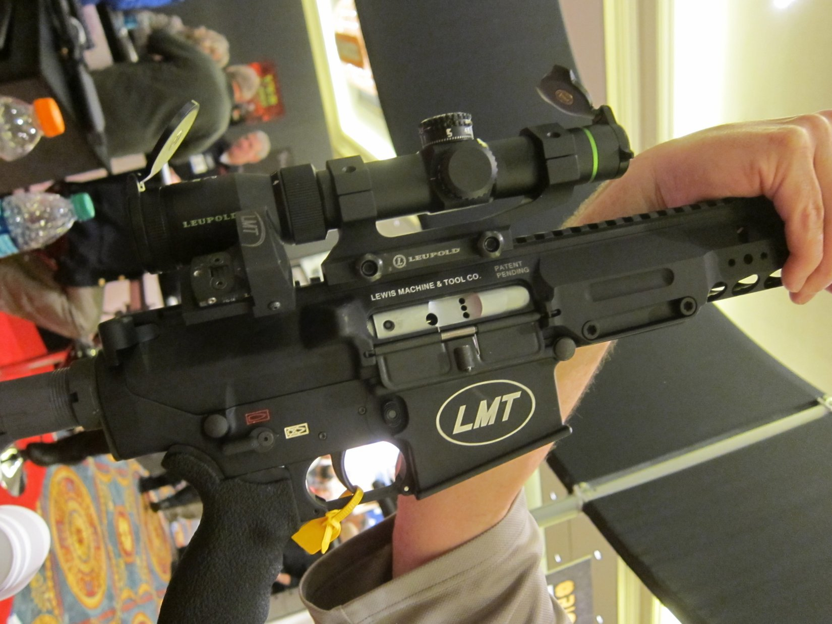 Lewis Machine  Tool LMT LM8MWS Tactical AR 10 7.62x51mm NATO .308 Win. Upper Receiver SHOT Show 2012 DefenseReview.com DR 8 Lewis Machine & Tool LMT LM8MWS (also written LM8 MWS) 16 Slick Receiver Monolithic Rail Platform 7.62mm NATO/.308 Win. Tactical AR 10/SR 25 Type Battle Rifle/Carbine Upper Receiver(s) with Lightweight Modular Rail System