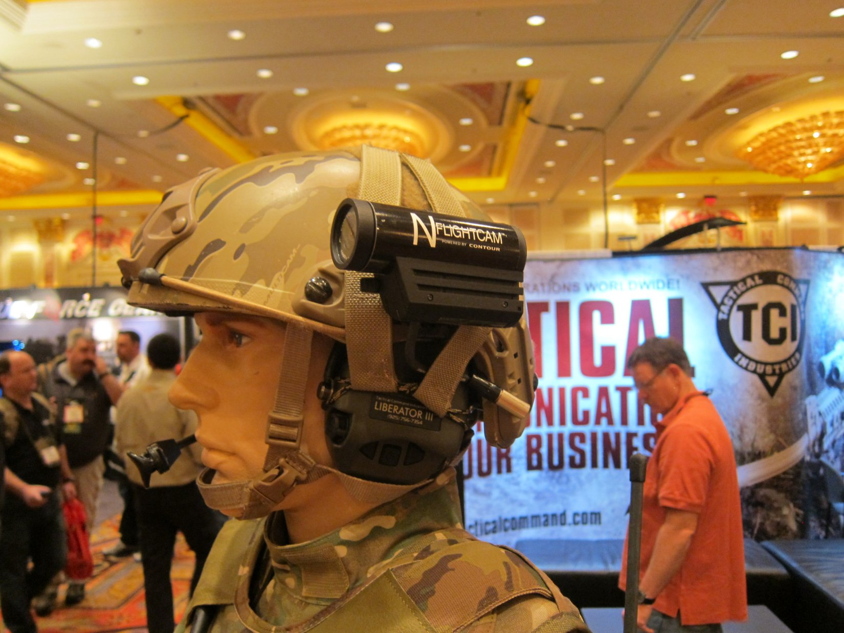 Tactical Command Industries TCI Liberator III Tactical Communications Headset Tactical Comms Headset Ops Core FAST Ballistic Helmet and Contour NFlightCam Helmet Cam SHOT Show 2012 DefenseReview.com DR 18 Tactical Command Industries TCI Liberator III ITJCS   TACP/JTAC Secure Dual Comm Tactical Headset Suite/Digital Hearing Protection System with Ambidextrous Push To Talk (PTT) Button and Radio Sharing: Modular Tactical Communications Headset for Military Special Operations Forces (SOF) (Video!)