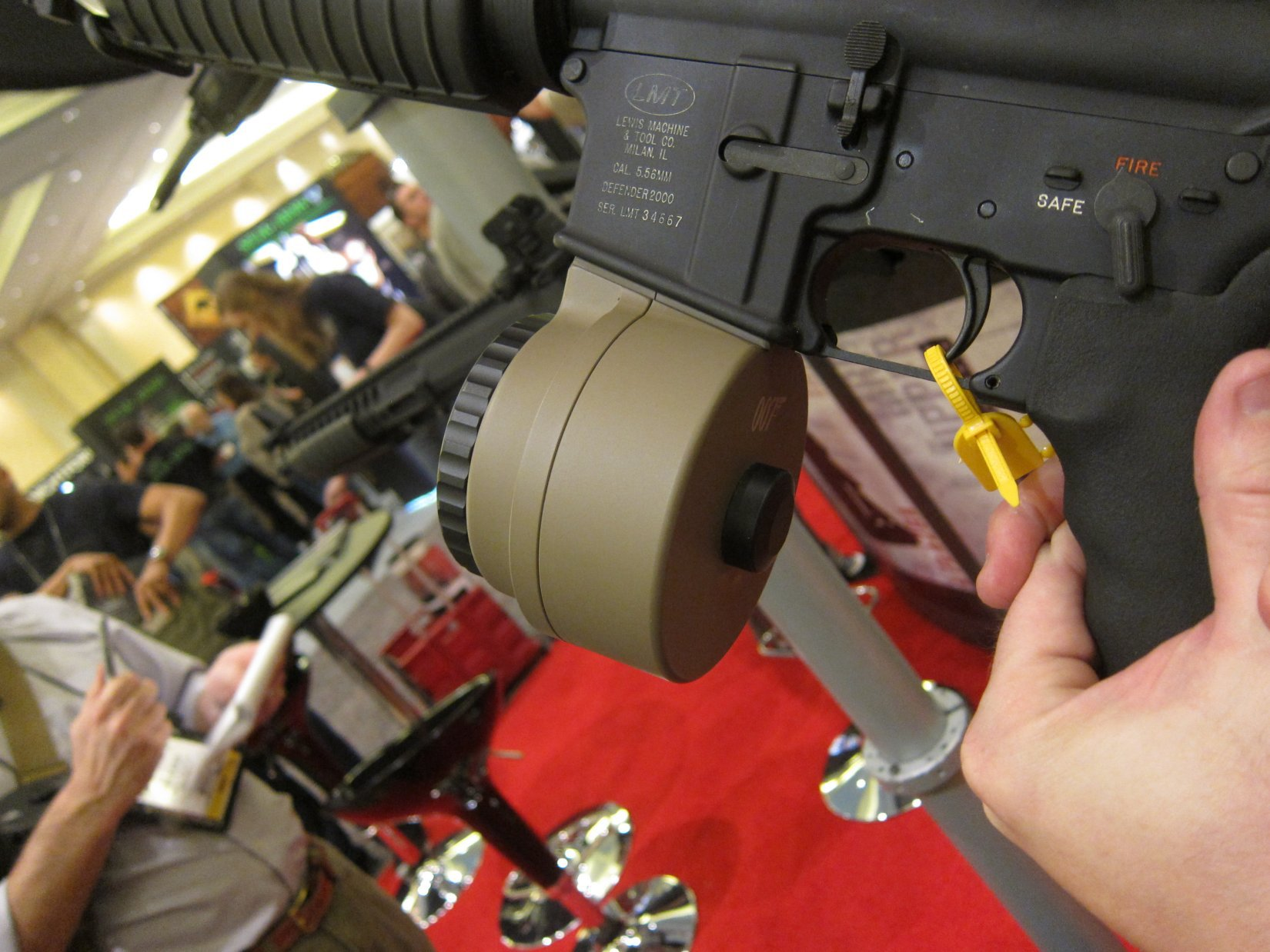 XS Products X 15 S 50 Round 5.56x45mm NATO .223 Rem. Drum Magazine SHOT Show 2012 DefenseReview.com DR 1 XS Products 50 Round Drum Magazines for 5.56x45mm NATO/.223 Rem. and 7.62x51mm NATO/.308 Win. Tactical Rifle/Carbine/SBRs!