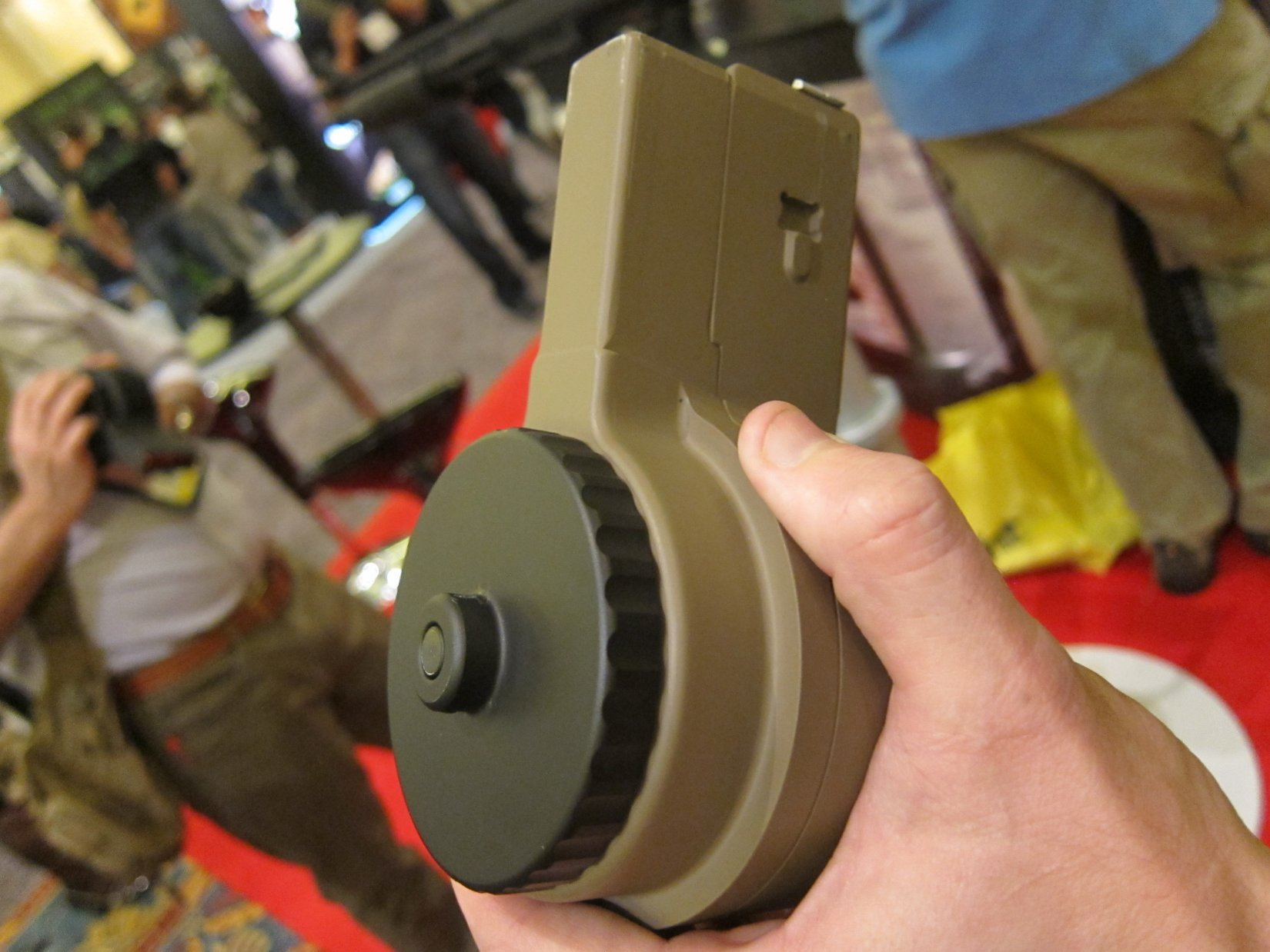 XS Products X 15 S 50 Round 5.56x45mm NATO .223 Rem. Drum Magazine SHOT Show 2012 DefenseReview.com DR 5 XS Products 50 Round Drum Magazines for 5.56x45mm NATO/.223 Rem. and 7.62x51mm NATO/.308 Win. Tactical Rifle/Carbine/SBRs!