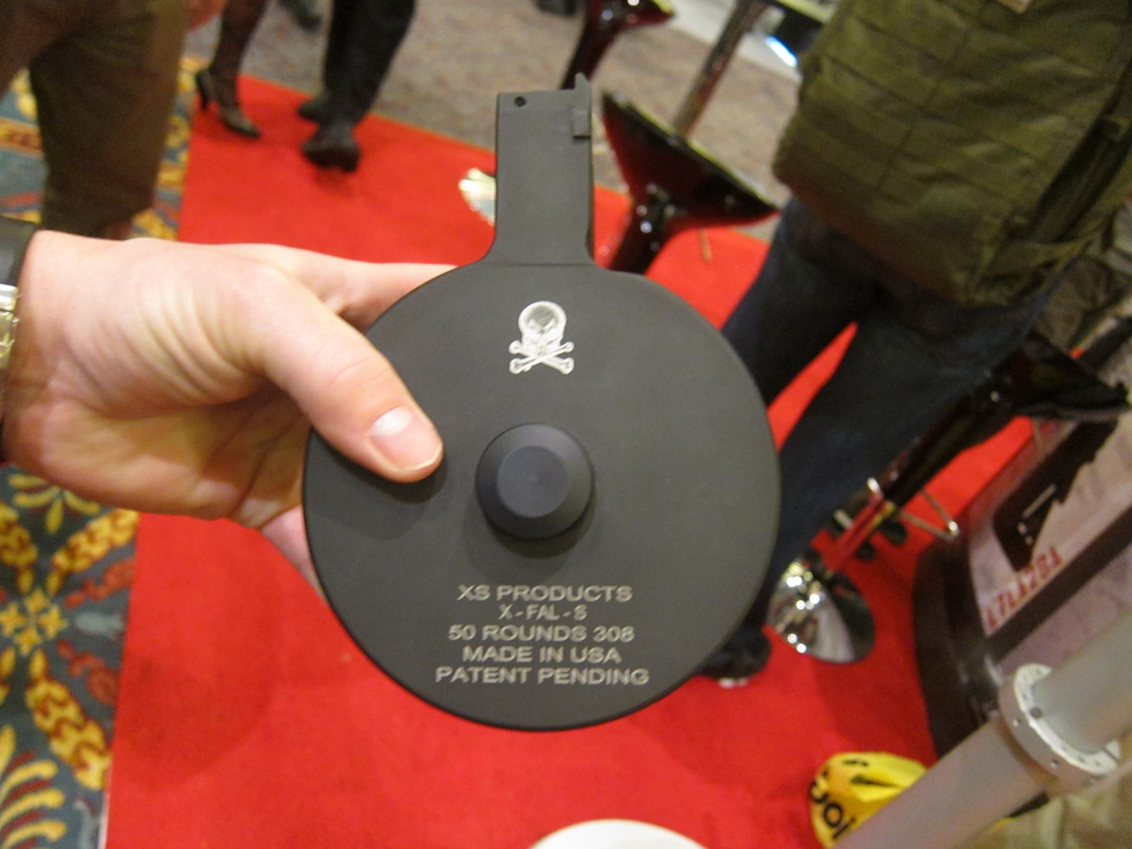 XS Products X FAL S 50 Round 7.62x51mm NATO .308 Win. Drum Magazine SHOT Show 2012 DefenseReview.com DR 1 XS Products 50 Round Drum Magazines for 5.56x45mm NATO/.223 Rem. and 7.62x51mm NATO/.308 Win. Tactical Rifle/Carbine/SBRs!