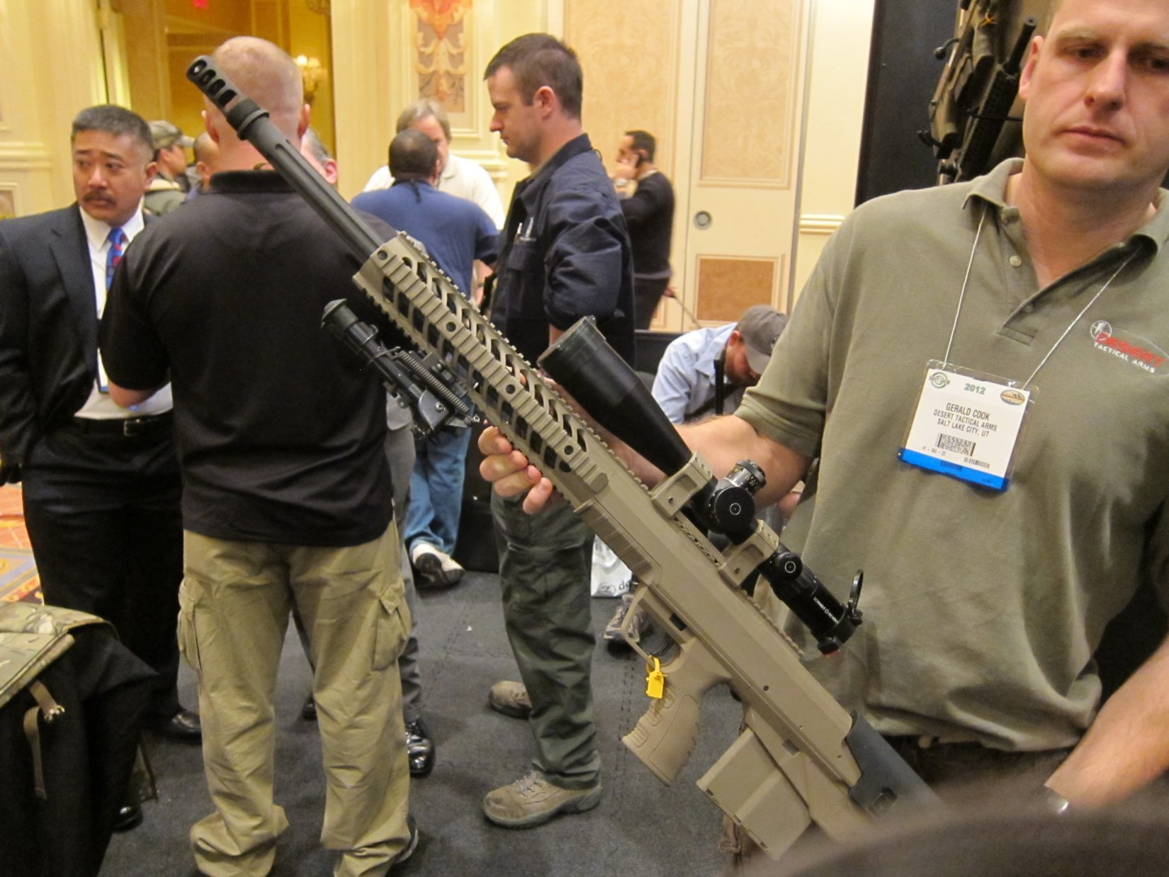 Desert Tactical Arms DTA Hard Target Interdiction HTI Precision Sniper Rifle PSR and SWORD Remgington 700 Modular Stock Chassis SHOT Show 2012 DefenseReview.com DR 6 Desert Tactical Arms DTA HTI (Hard Target Interdiction) Sniper Rifle Chassis/DTA HTI Conversion Kit Modular Bullpup, Bolt Action .50 BMG/.416 Barrett/.408 Cheytac/.375 Cheytac Anti Materiel/Sniper Rifle System Goes Into Production for Civilian Tactical Shooters and Military Special Operations Forces (SOF) Tasked with Long Range Interdiction Operations/Missions (Video!)