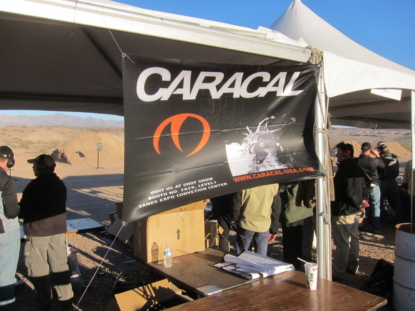 Caracal F and Caracal C Low Bore Axis Striker Fired Polymer Framed Semi Auto 9mm Compact Combat Pistols Tactical Pistols SHOT Show 2012 Media Day DefenseReview.com DR 4 Caracal F and Caracal C Low Bore Axis, Striker Fired Polymer Frame 9mm Combat Pistols for Concealed Carry (CCW) and Covert Missions: Tactical Pistol Tack Drivers at the Range!