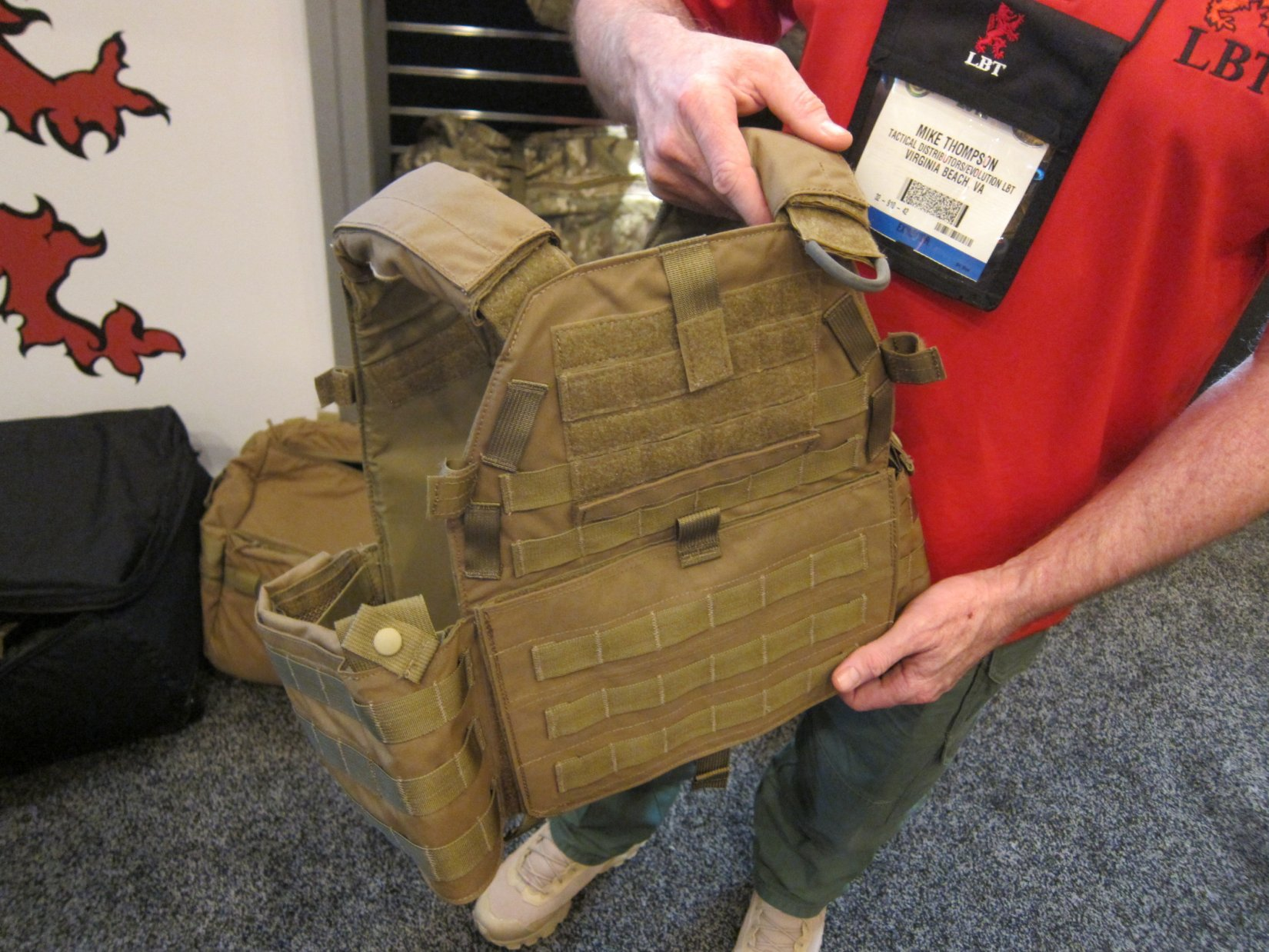 London Bridge Trading LBT Sentinel Releasable Plate Carrier RPC System Quick Release Tactical Armor Plate Carrier Mike Thompson SHOT Show 2012 DefenseReview.com DR 2 London Bridge Trading (LBT) Modular Sentinel Releasable Plate Carrier (RPC) Tactical Armor Carrier/Vest with Quick Release Assault Panel (QRAP) and Kangaroo Pouch Mag Carrier Insert