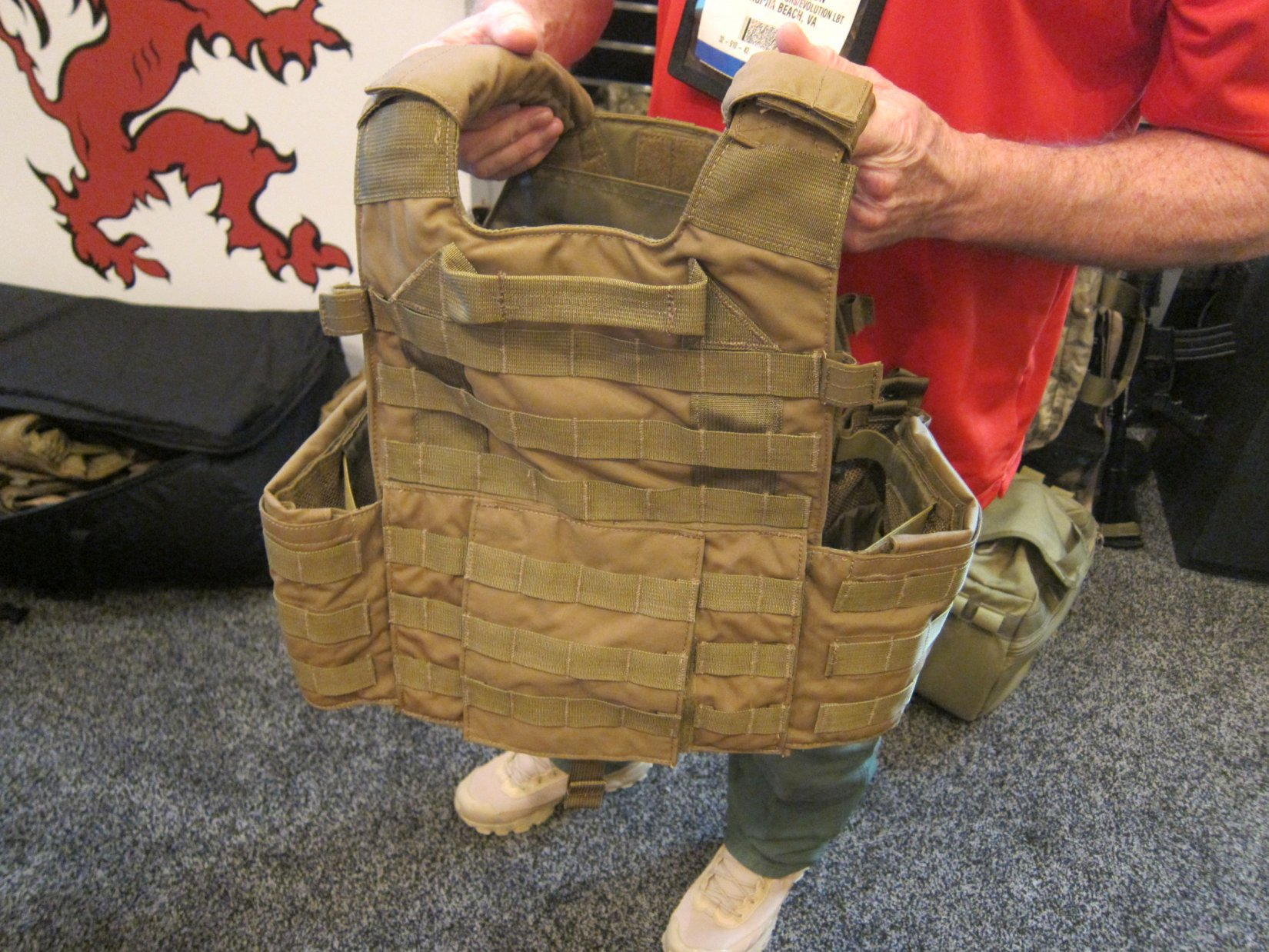 London Bridge Trading LBT Sentinel Releasable Plate Carrier RPC System Quick Release Tactical Armor Plate Carrier Mike Thompson SHOT Show 2012 DefenseReview.com DR 3 London Bridge Trading (LBT) Modular Sentinel Releasable Plate Carrier (RPC) Tactical Armor Carrier/Vest with Quick Release Assault Panel (QRAP) and Kangaroo Pouch Mag Carrier Insert