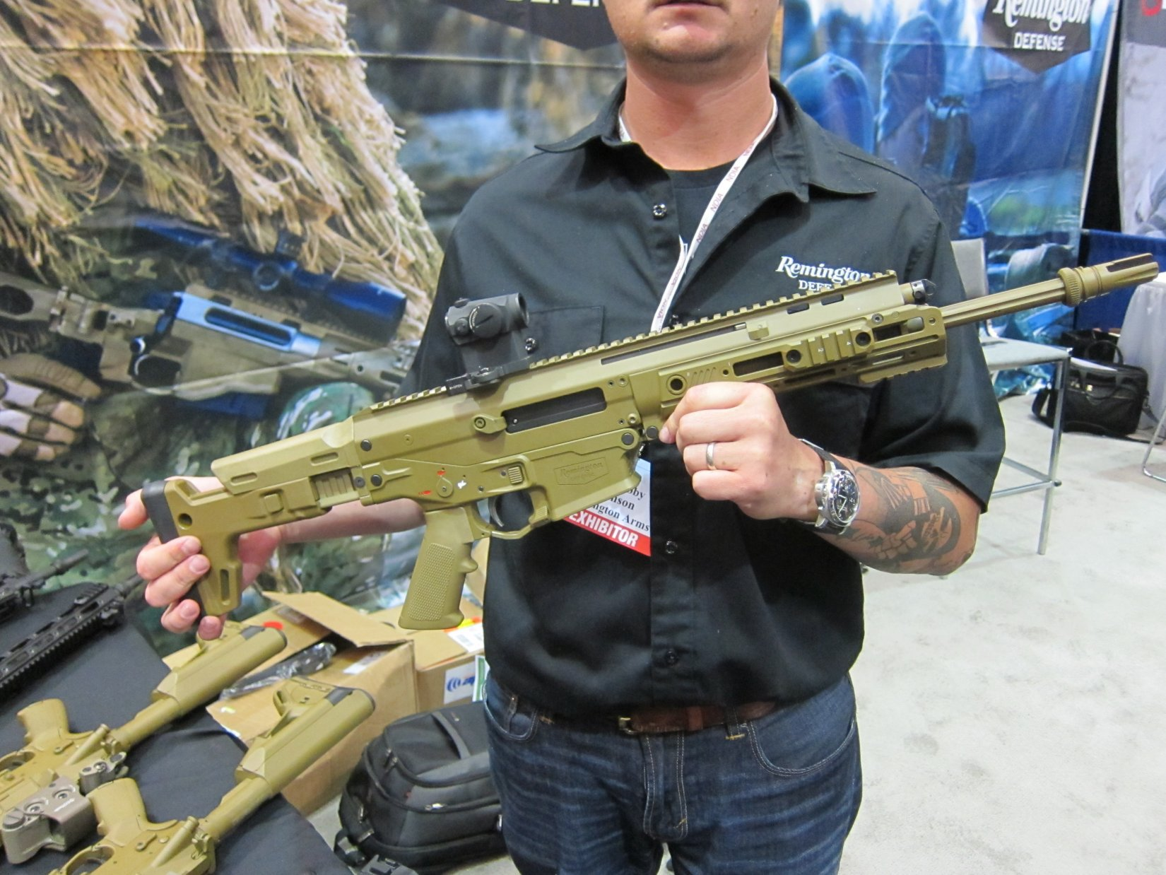 Remington ACR Individual Carbine IC Candidate Robby Johnson NDIA Joint Armaments 2012 DefenseReview.com DR 1 Remington ACR PDW SBR (Adaptive Combat Rifle Personal Defense Weapon Short Barreled Rifle) and Remington Individual Carbine (IC) Candidate: Remington Defense Assault Rifles/Carbines/PDWs at NDIA Joint Armaments Conference 2012 (Video!)
