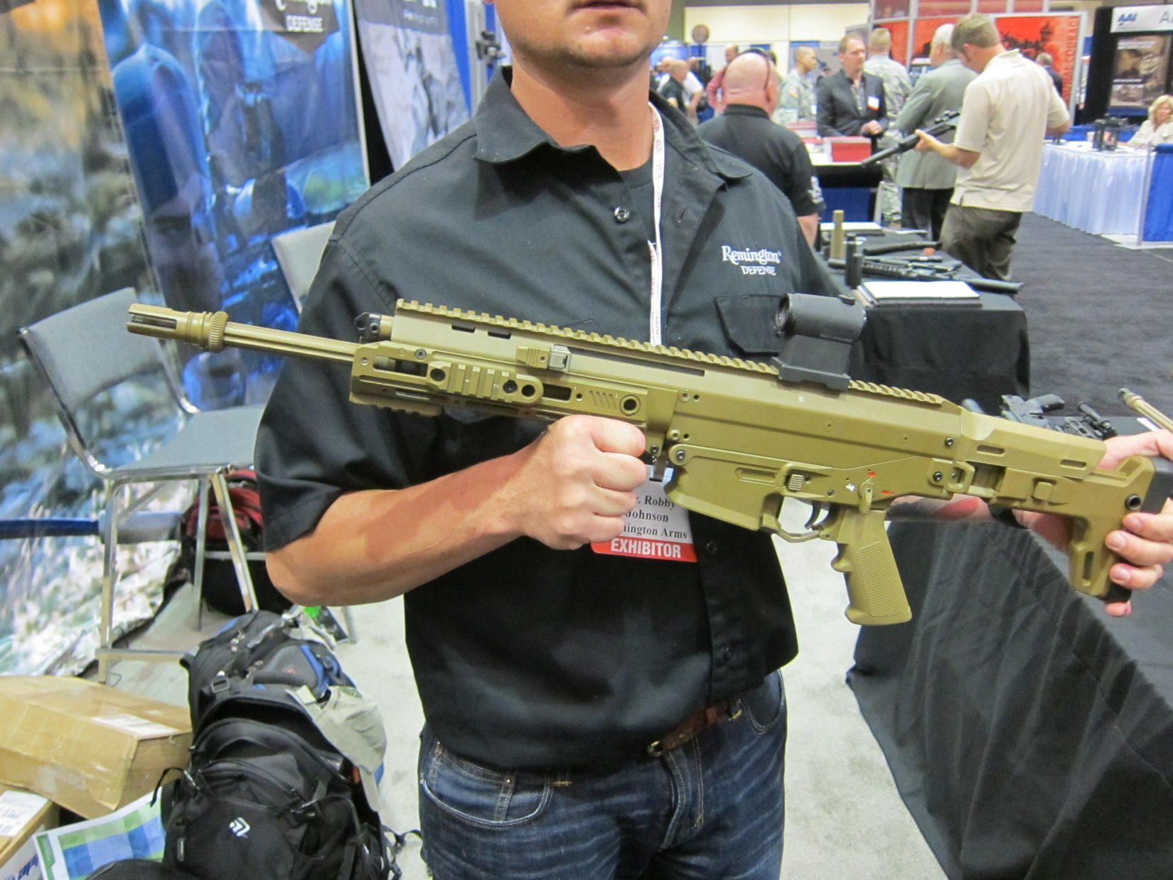 Remington ACR Individual Carbine IC Candidate Robby Johnson NDIA Joint Armaments 2012 DefenseReview.com DR 2 Remington ACR PDW SBR (Adaptive Combat Rifle Personal Defense Weapon Short Barreled Rifle) and Remington Individual Carbine (IC) Candidate: Remington Defense Assault Rifles/Carbines/PDWs at NDIA Joint Armaments Conference 2012 (Video!)