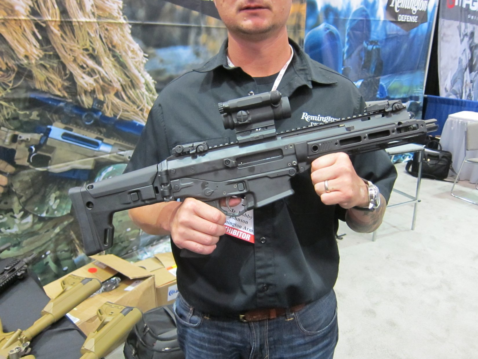 Remington ACR PDW SBR (Adaptive Combat Rifle Personal Defense Weapon Short Barreled Rifle) and Remington Individual Carbine (IC) Candidate: Remington Defense Assault Rifles/Carbines/PDWs at NDIA Joint Armaments Conference 2012 (Video!)